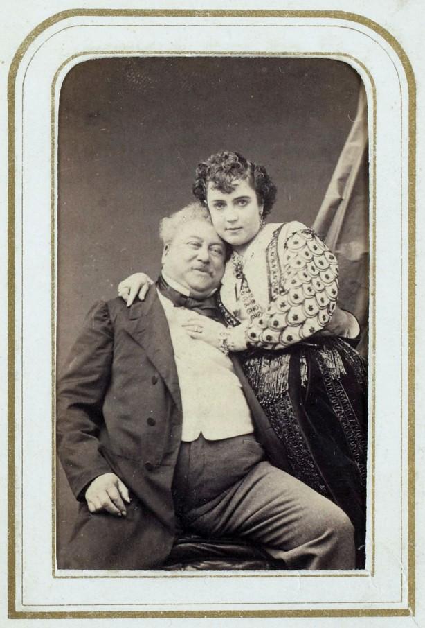 Alexandre Dumas & Adah Isaacs Menken, 1866